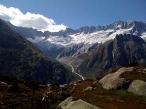 Göscheneralp mit Gletscher