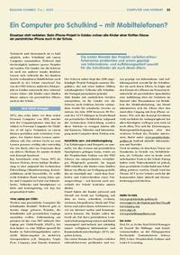 Artikel in Bildung Schweiz