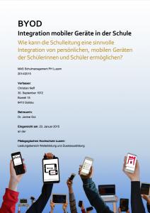 BYOD - Integration mobiler Geräte in der Schule